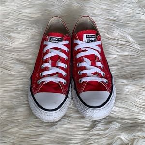 Red low top converse- Red